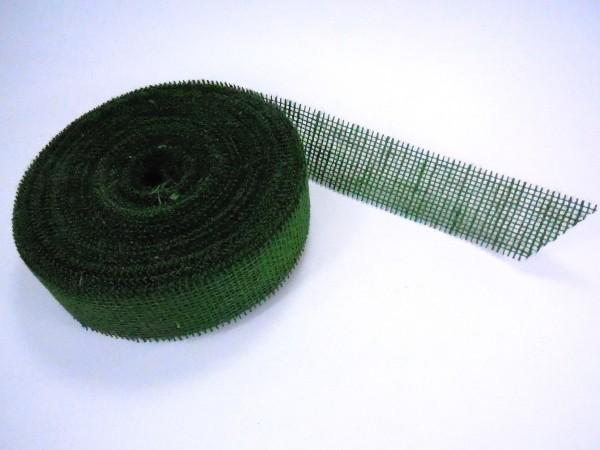 Juteband/ Moosgrün, 5cm