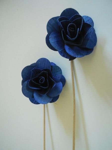 Holzrose,Blau,6cm,Z418a