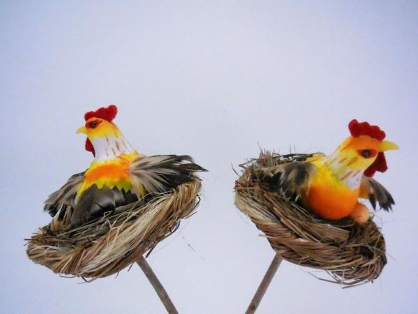 Huhn im Nest, 9cm