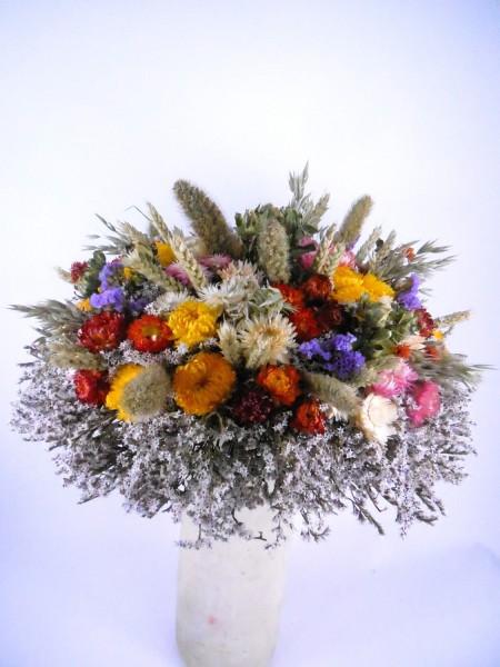 großer Strohblumenstrauß, Ø35cm, Ie