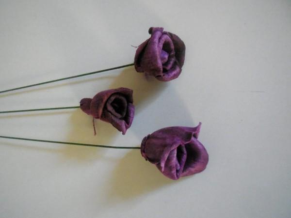 Schilfblumen, 3Stk/ 2cm, lila, Z815