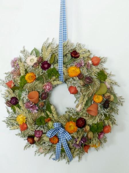 Bunter Trockenblumenkranz/ 35 cm, 208
