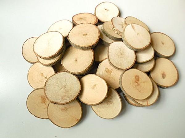 Holzscheibe/ rund, 6-7cm, Z417