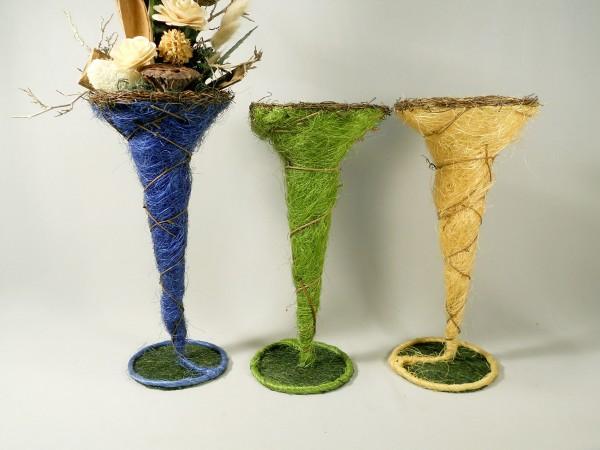 Sisal-Vase / Blau, Z117