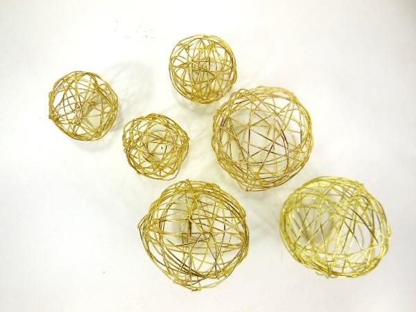 Metallkugel, Goldlack, 2,5❘3,5cm