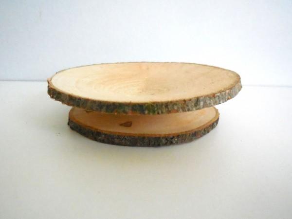 Schale aus Holzscheiben, 10cm, Z843