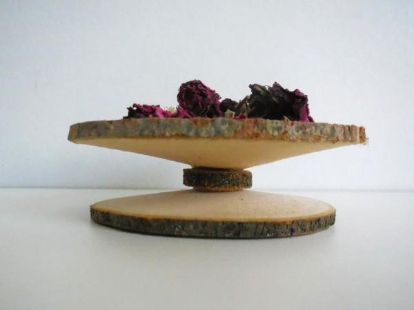 Schale aus Holzscheiben, 10cm, Z844