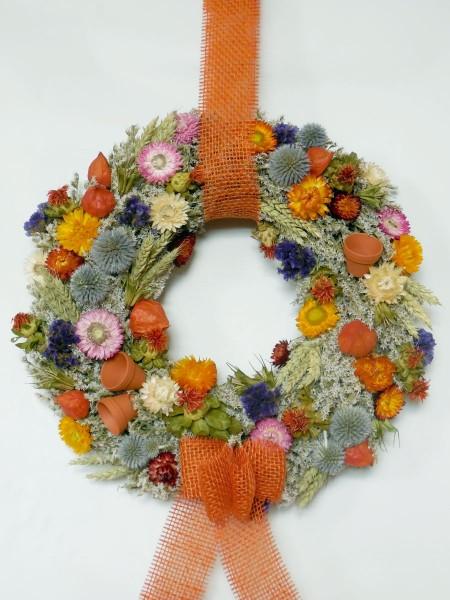 Bunter Trockenblumenkranz/ 45 cm, 208a