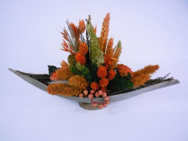 Cocosschale mit Trockenblumen, 30 und 35cm