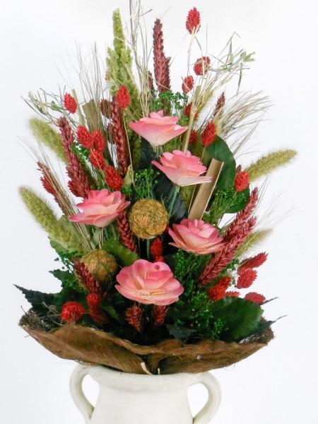 Trockenblumenstrauß,H.35cm, FVI
