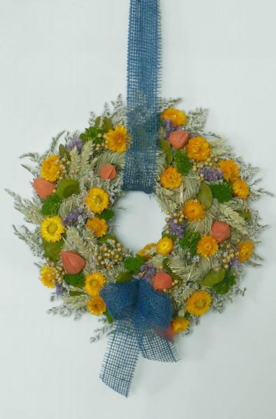 Bunter Trockenblumenkranz/ 35 cm, 206