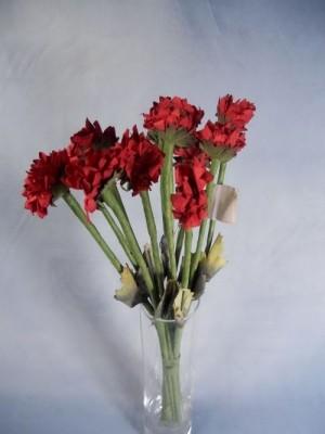 Papierblüten, Rot,6 Stk., Z134