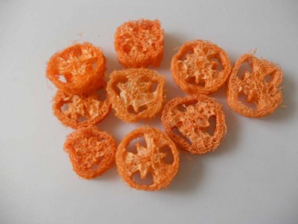 Luffa Scheiben/5 Stk.,Orange, Z293