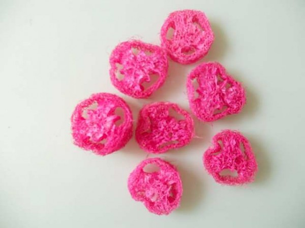 Luffa Scheiben/5 Stk.,Rosa-Pink, Z292
