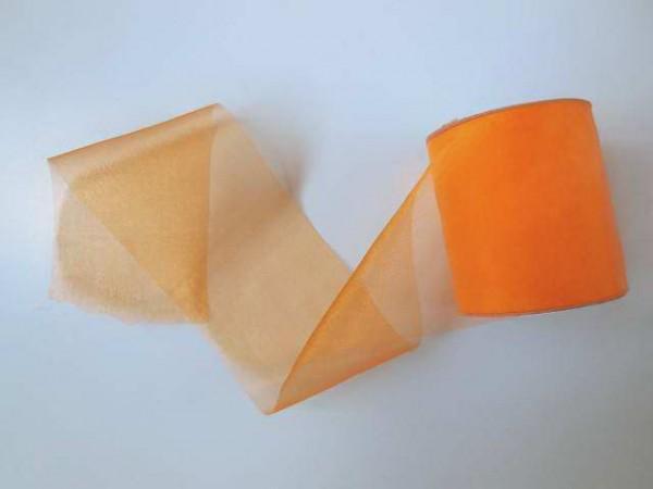 Organzaband,Orange, 7cm, Z376
