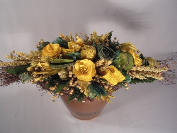 Bunter Blumenstrauss (länglich),45cm, XXVII